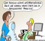 Karikatur, Cartoon: Neuer Job, © Roger Schmidt
