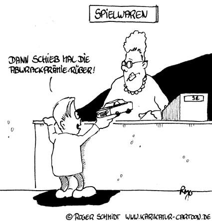 Karikatur, Cartoon: Abwrackprämie für (Fast-) Neuwagen, © Roger Schmidt