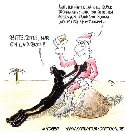 Karikatur, Cartoon: Nikolaus, © Roger Schmidt