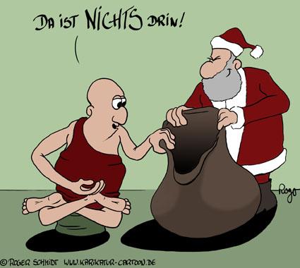 Karikatur, Cartoon: Nirvana zu Weihnachten, © Roger Schmidt