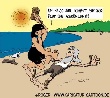 Karikatur, Cartoon: Nordsee, © Roger Schmidt