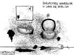 Karikatur, Cartoon: Öffentlicher Nahverkehr © Roger Schmidt