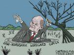 Karikatur, Cartoon: Olaf Scholz versagt bei Wirecard, Cum-EX und HSH-Nordbank © Roger Schmidt