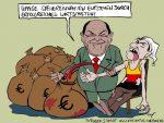 Karikatur, Cartoon: Olaf Scholz erwirtschaftet höhere Steuereinnahmen, © Roger Schmidt