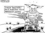 Karikatur, Cartoon: Die deutsche Umweltsau © Roger Schmidt