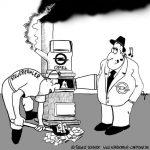 Karikatur, Cartoon: Opel und der Steuerzahler, © Roger Schmidt