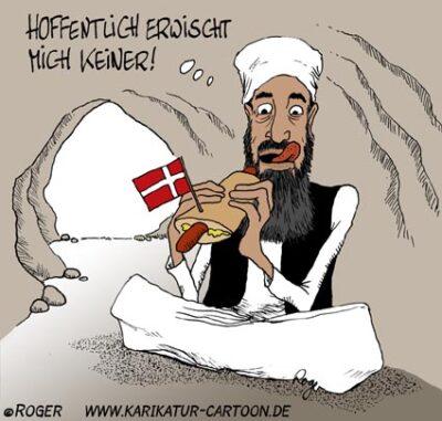 Karikatur, Cartoon: Osama bin Laden, © Roger Schmidt