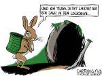 Karikatur, Cartoon: Lockdown bis Ostern 2022 © Roger Schmidt