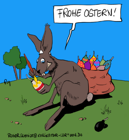 Karikatur, Cartoon: Salafisten feiern Osterfest, © Roger Schmidt