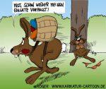 Karikatur, Cartoon: Osterhase, © Roger Schmidt