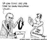 Karikatur, Cartoon: OSZE Wahlbeobachter, © Roger Schmidt