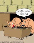 Karikatur, Cartoon: Die Perlen Sau, © Roger Schmidt