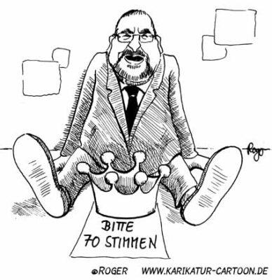 Karikatur, Cartoon: Peter Harry Carstensen, © Roger Schmidt