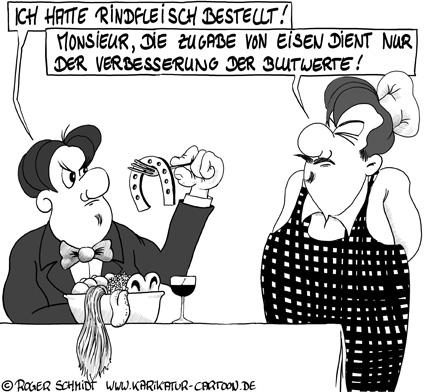 Karikatur, Cartoon: Skandal mit Pferdefleisch, © Roger Schmidt