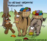 Karikatur, Cartoon: Pferdewetten zu Ostern, © Roger Schmidt
