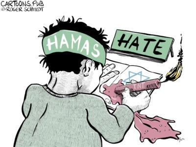 Karikatur, Cartoon: Pisa-Studie Hamas © Roger Schmidt