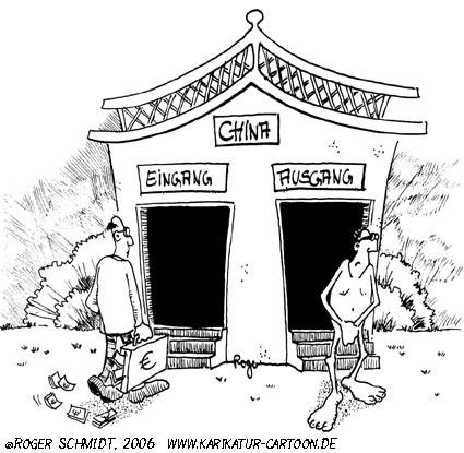 Karikatur, Cartoon: Plagiat, © Roger Schmidt