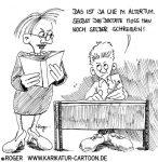 Karikatur, Cartoon: Bildung und Computer, © Roger Schmidt
