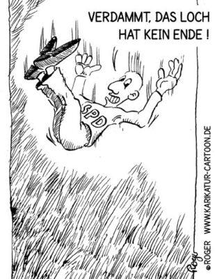 Karikatur, Cartoon: Sturzflug in Hamburg, © Roger Schmidt