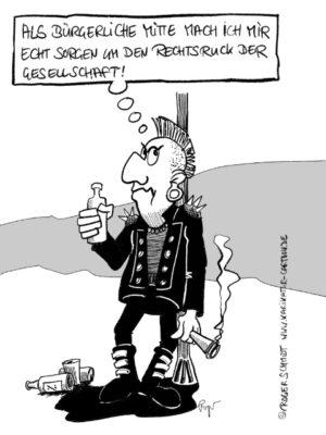 Karikatur, Cartoon: Der Politjoint, © Roger Schmidt