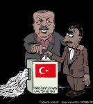 Karikatur, Cartoon: Präsidentschaftswahl in der Türkei 2018, © Roger Schmidt