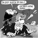 Karikatur, Cartoon: Anforderungen an den Projektleiter, © Roger Schmidt