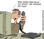Karikatur, Cartoon: Raubkopie, © Roger Schmidt