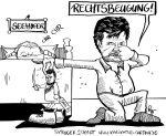Karikatur, Cartoon: Vorwurf der Rechtsbeugung im Fall Sami A., © Roger Schmidt