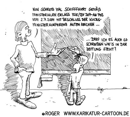 Karikatur, Cartoon: Rechtschreibreform, © Roger Schmidt