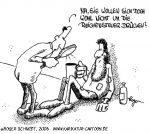 Karikatur, Cartoon: Reichensteuer, © Roger Schmidt