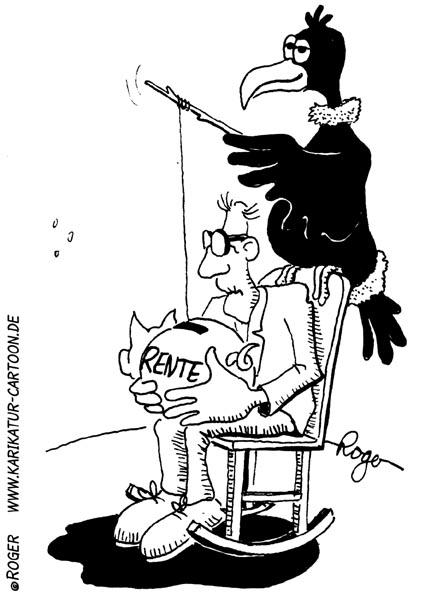 Karikatur, Cartoon: Rente Besteuerung, © Roger Schmidt