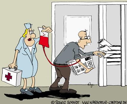 Karikatur, Cartoon: Rente und Zuverdienst, © Roger Schmidt