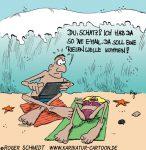 Karikatur, Cartoon: Riesenwelle, © Roger Schmidt