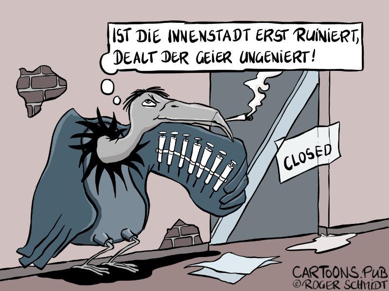 Frisch Angefaultes: Ruinierte Innenstädte gut für Dealer © Roger Schmidt