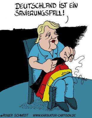 Karikatur, Cartoon: Sanierungsfall Deutschland, © Roger Schmidt