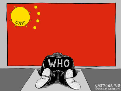 Karikatur, Cartoon: Saustall WHO © Roger Schmidt