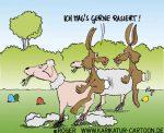 Karikatur, Cartoon: rasiertes Schaf, © Roger Schmidt