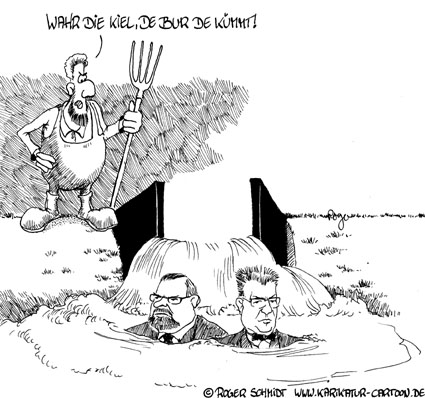 Karikatur, Cartoon: Schlacht von Hemmingstedt, © Roger Schmidt