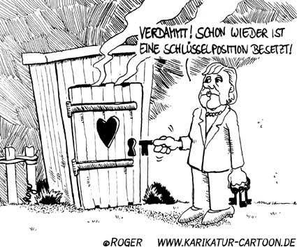 Karikatur, Cartoon: Schlüsselposition, © Roger Schmidt
