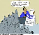 Karikatur, Cartoon: Schuldnerberater kostenlos, © Roger Schmidt