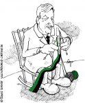 Karikatur, Cartoon: Schwarz-Grün in Hamburg, © Roger Schmidt