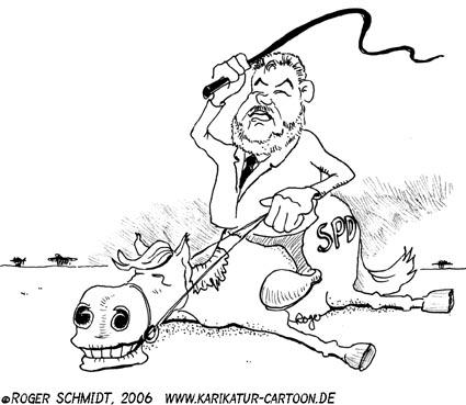 Karikatur, Cartoon: Schwergewicht, © Roger Schmidt
