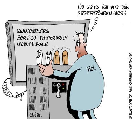 Karikatur, Cartoon: Service temporarily unavailable, © Roger Schmidt