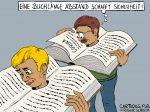Karikatur, Cartoon: Social Distance - Psychological Distance © Roger Schmidt