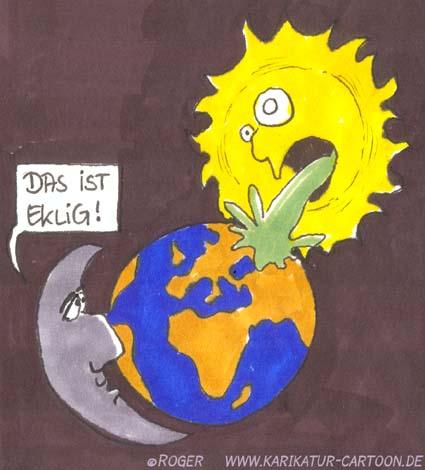 Karikatur, Cartoon: Sonnenstich, © Roger Schmidt