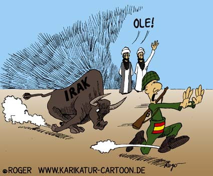 Karikatur, Cartoon: Spanien Ole!, © Roger Schmidt