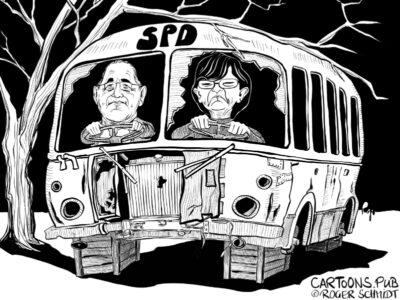 Karikatur, Cartoon: Quo Vadis, SPD? © Roger Schmidt