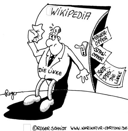 Karikatur, Cartoon: Stasi-Vergangenheit, © Roger Schmidt
