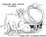 Karikatur, Cartoon: Steigende Milchpreise, © Roger Schmidt