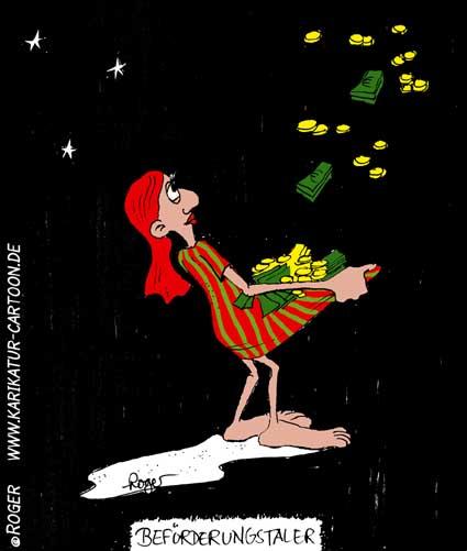 Karikatur, Cartoon: Sterntaler, © Roger Schmidt